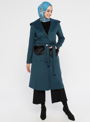 Petrol - Fully Lined - Viscose - Coat