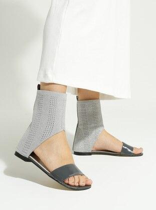 Gray - Casual - Sandal - Sandal