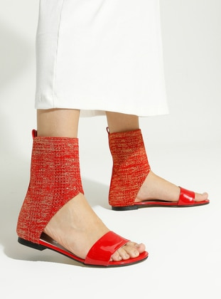 Red - Casual - Sandal - Sandal