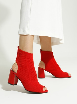 Red - Boot - High Heel - Boots