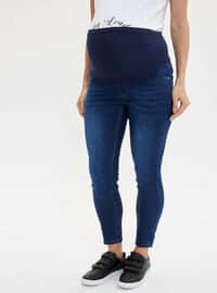 Blue - Maternity Pants