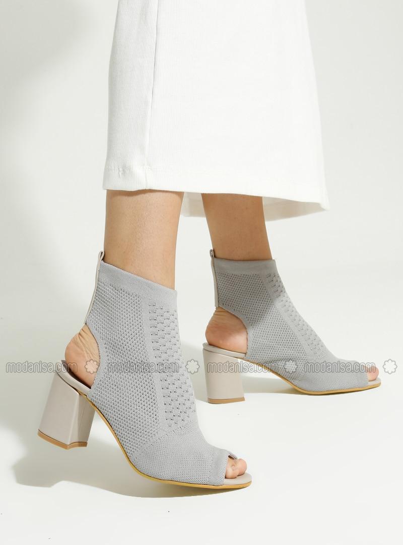 Gray - Boot - High Heel - Boots