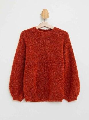 Orange - Girls` Pullovers
