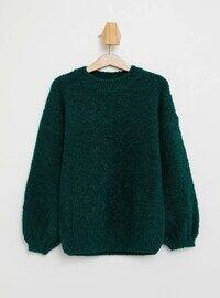 Green - Girls` Pullovers
