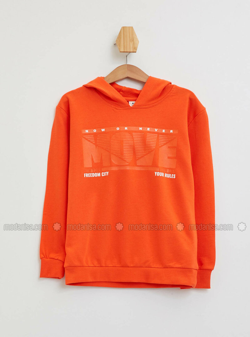 Orange - Boys` Sweatshirt