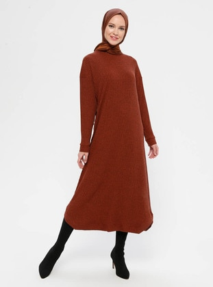 Terra Cotta - Polo neck - Unlined - Dress