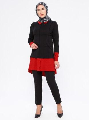 Terra Cotta - Black - Unlined - Nylon - Viscose - Suit