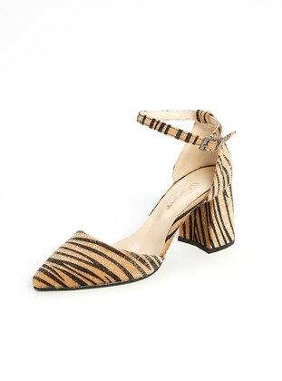 Camel - Black - High Heel - Heels