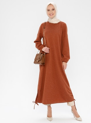 Cinnamon - Button Collar - Unlined - Linen - Dress
