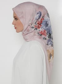 Dusty Rose - Floral - Chiffon - Scarf