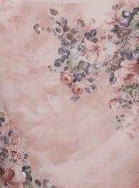 Powder - Floral - Chiffon - Scarf