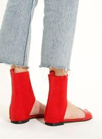 Red - Casual - Sandal - Sandal