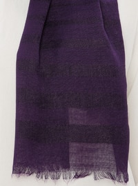 Purple - Plain - Viscose - Shawl