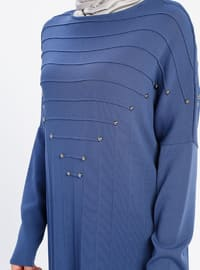 Indigo - Crew neck - Nylon -  - Viscose - Tunic