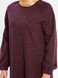 Plum - Button Collar - Unlined - Linen - Dress