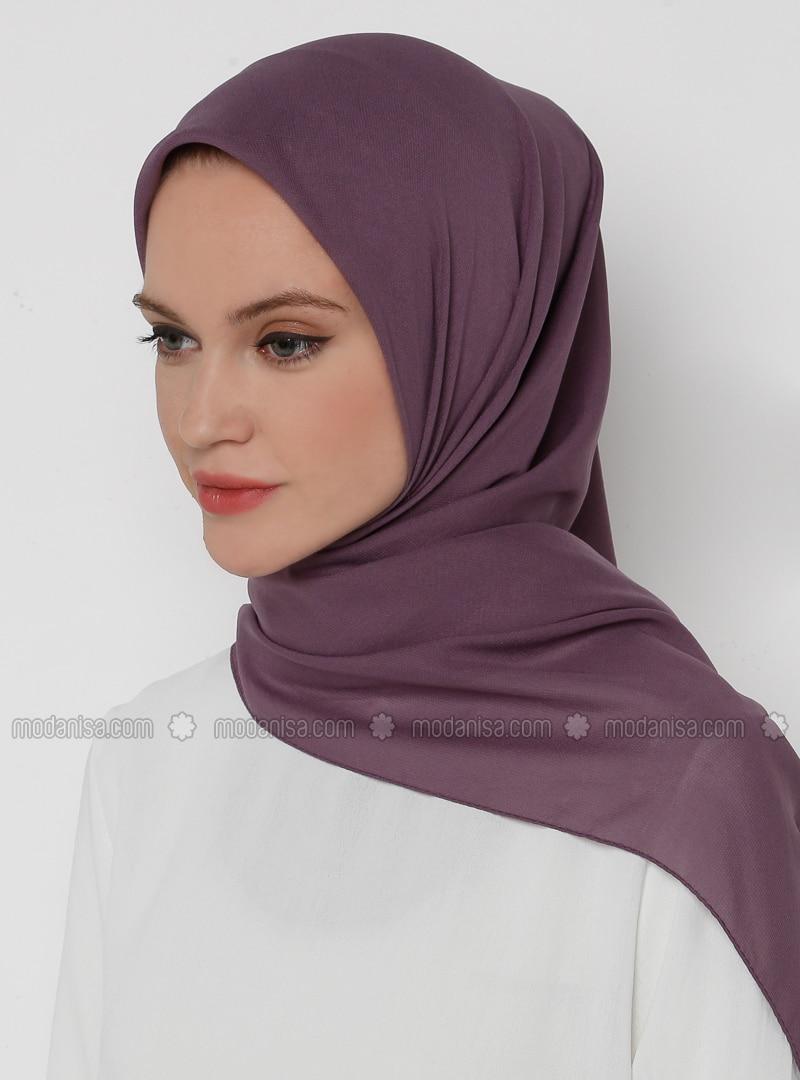 Lilac - Plain - Chiffon - Scarf
