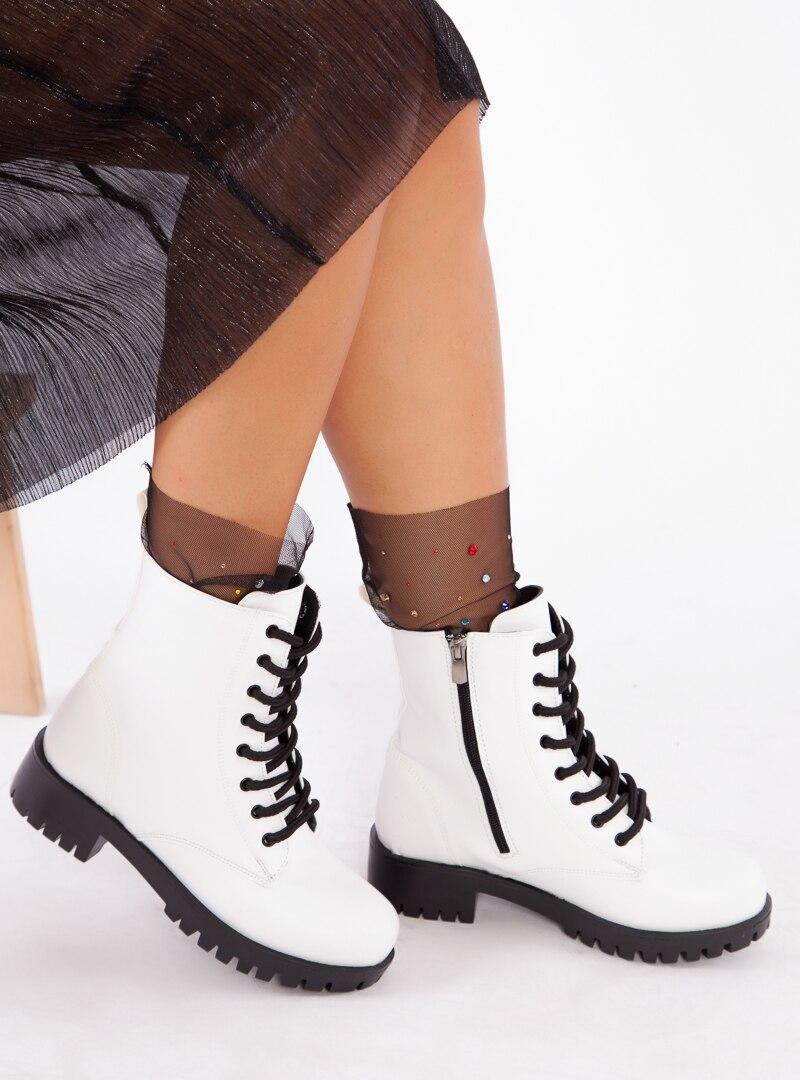 Tesettür Bot Ayakkabı Havuzu Beyaz Kadın 38