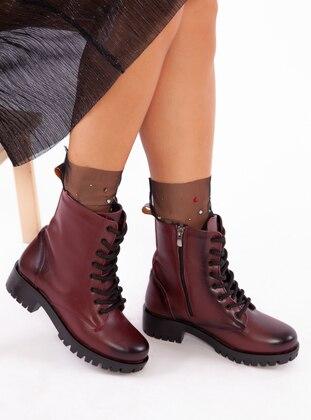 Maroon - Boot - Boots - Ayakkabı Havuzu