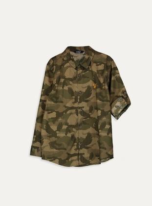 Printed - Khaki - Boys` Shirt - LC WAIKIKI