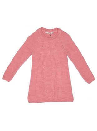 Crew neck -  - Pink - Girls` Tunic - Nanica Kids