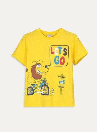 Crew neck - Yellow - Boys` T-Shirt - LC WAIKIKI