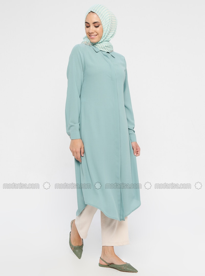 Green - Point Collar - Tunic