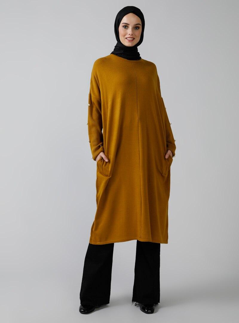 Tesettür Kazak Refka Renkli Kadın 40