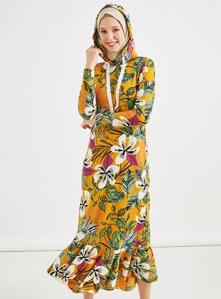 Mustard - Multi - Unlined -  - Dress
