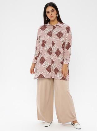 Cream -  - Plus Size Pants