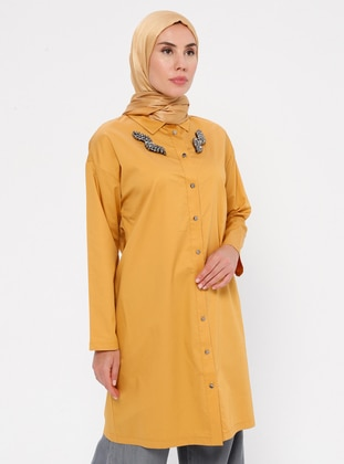 Mustard - Point Collar -  - Tunic