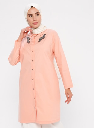 Salmon - Point Collar -  - Tunic
