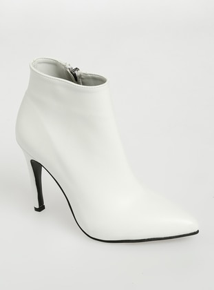 White - High Heel - Boots