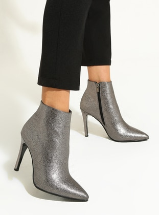Silver - High Heel - Boots