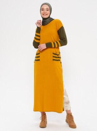 Mustard - Crew neck - Acrylic - Wool Blend - Knitwear