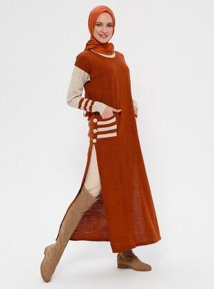 Terra Cotta - Crew neck - Acrylic - Wool Blend - Knitwear