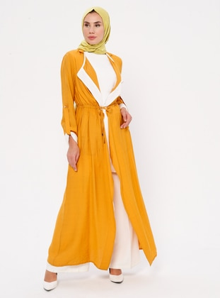 Ecru - Mustard - Fully Lined - Suit