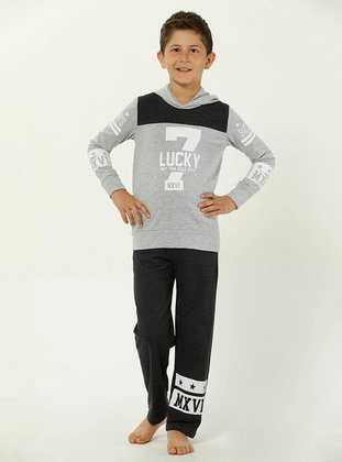 Crew neck -  - Black - Boys` Pyjamas