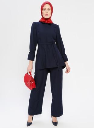 Navy Blue - Unlined - Suit - DressLife