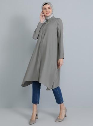 Gray - Point Collar - Tunic