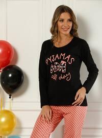 Black - Salmon - Pyjama