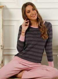 Pink - Crew neck - Multi -  - Pyjama