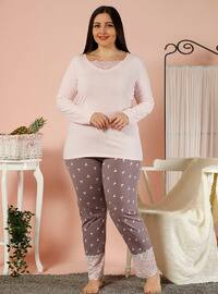 Powder - V neck Collar - Multi -  - Pyjama