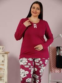 Terra Cotta - Crew neck - Floral -  - Pyjama