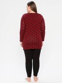 Black - Boat neck - Multi -  - Pyjama