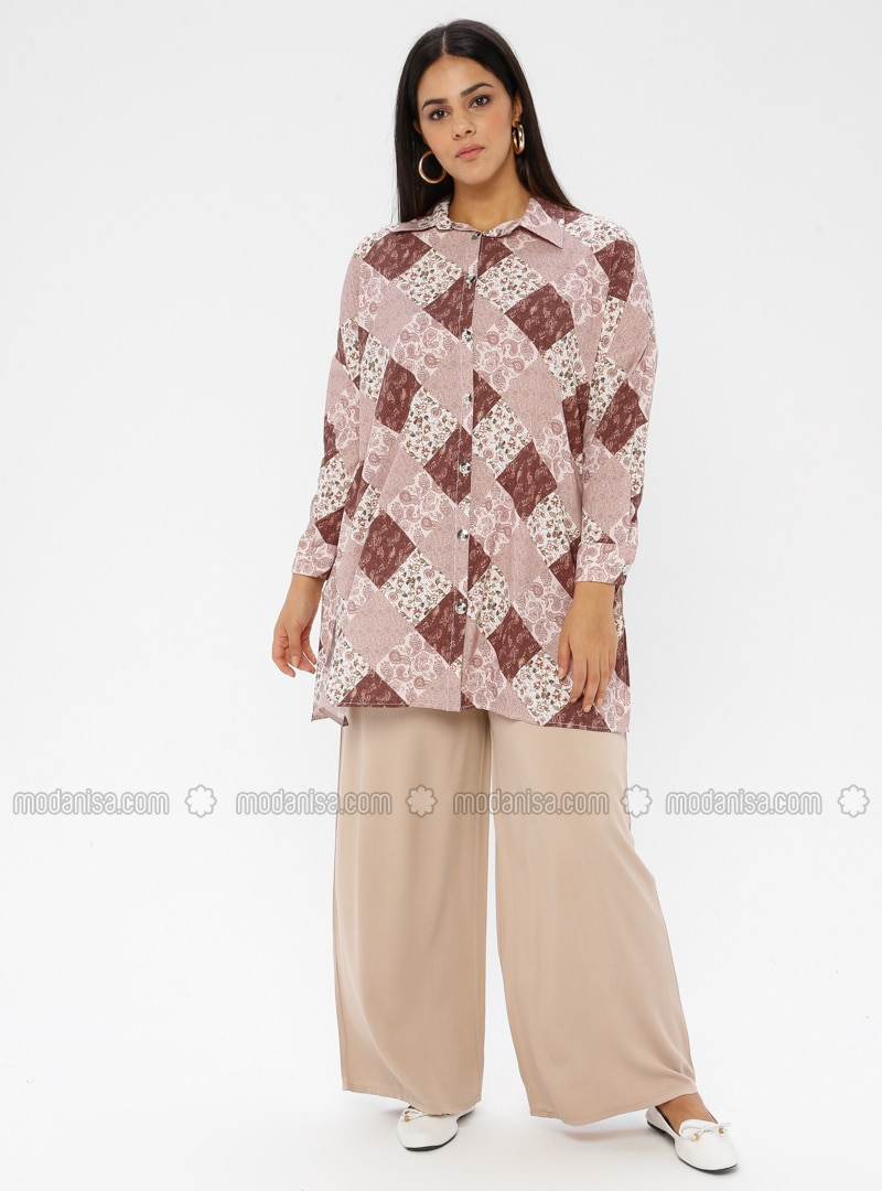 Cream - - Plus Size Pants