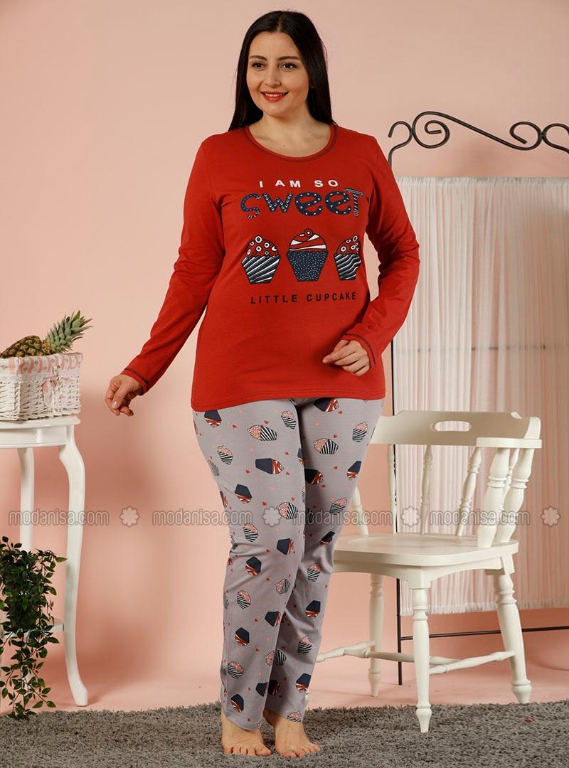 Terra Cotta - Crew neck - Multi -  - Pyjama