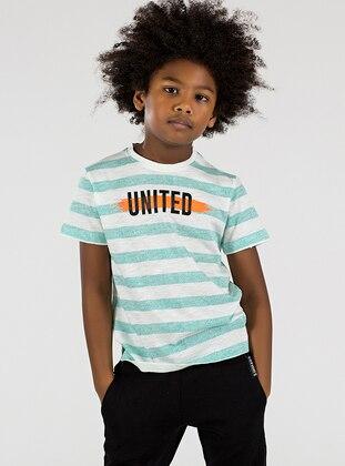 Crew neck -  - Unlined - Mint - Boys` T-Shirt