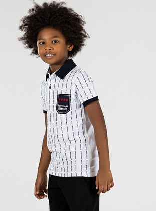 Polo -  - Unlined - White - Boys` T-Shirt