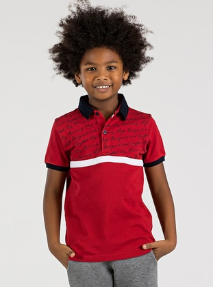 Polo -  - Unlined - Red - Boys` T-Shirt