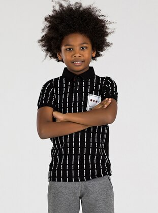 Polo -  - Unlined - Black - Boys` T-Shirt